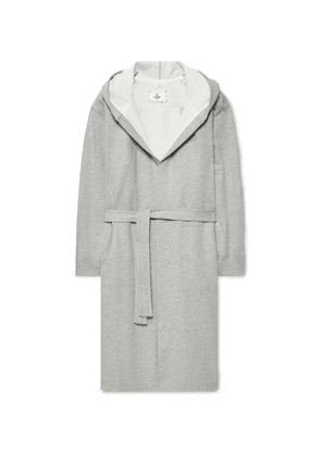 Reigning Champ - Mélange Loopback Cotton-jersey Hooded Robe - Gray