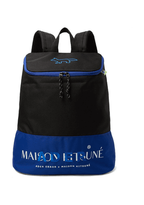 Maison Kitsuné - + Ader Error Logo-embroidered Printed Canvas Backpack - Black