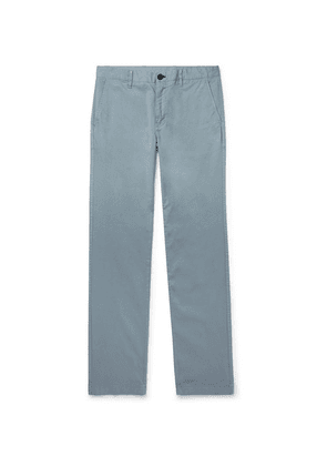 PS Paul Smith - Slim-fit Stretch-cotton Twill Trousers - Gray