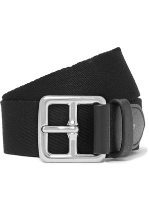 Mulberry - 3cm Black Canvas And Leather Belt - Black
