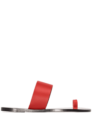 Atp Atelier toe strap sandals - Red