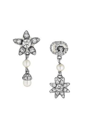 Gucci Flower and Double G earrings with diamonds - 9068
