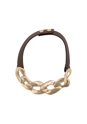 Marni link chain necklace - Brown