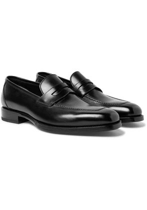 TOM FORD - Wessex Leather Penny Loafers - Black