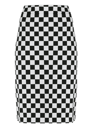 Boutique Moschino chess pencil skirt - Black