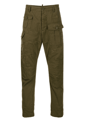 Dsquared2 panelled frayed trousers - Green