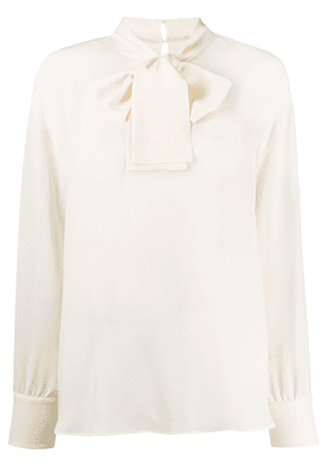 Valentino pussybow blouse - Neutrals
