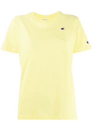 Champion logo embroidered T-shirt - Yellow
