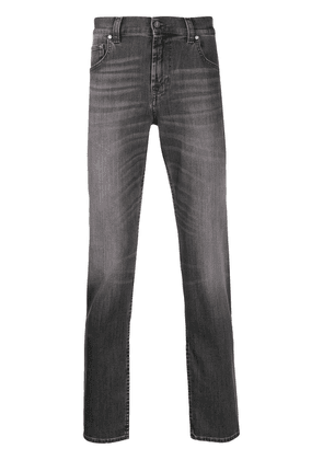 7 For All Mankind tapered stonewashed jeans - Grey