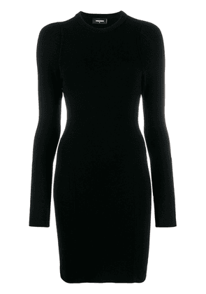 Dsquared2 long sleeve fitted dress - Black