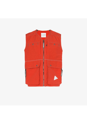 and Wander red Laser sleeveless waistcoat