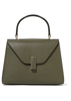 Valextra - Iside Mini Textured-leather Tote - Army green
