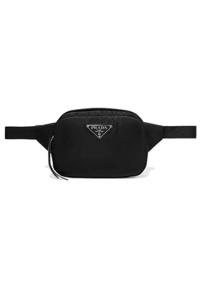 Prada - Leather-trimmed Shell Belt Bag - Black