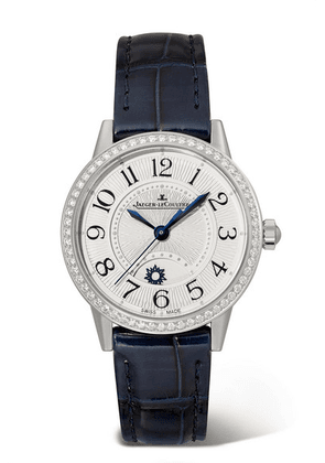 Jaeger-LeCoultre - Rendez-vous Night & Day 29mm Small Stainless Steel, Alligator And Diamond Watch - Silver