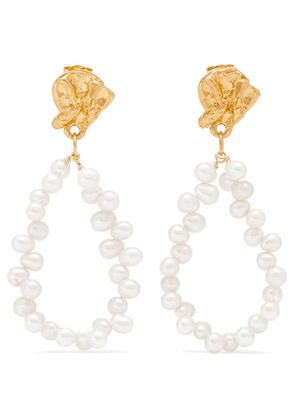 Alighieri - Apollo's Story Gold-plated Pearl Earrings - one size