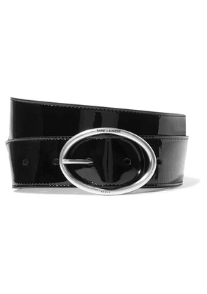 SAINT LAURENT - Patent-leather Belt - Black
