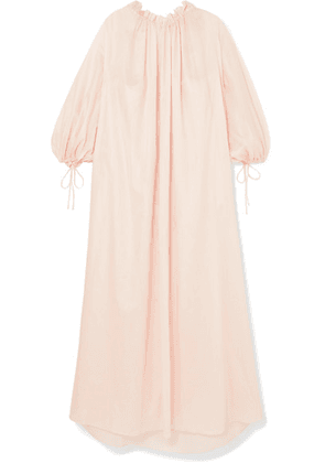 Three Graces London - Almost A Honeymoon Gathered Cotton-voile Nightdress - Blush