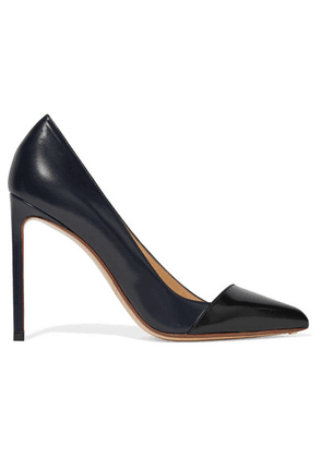 Francesco Russo - Two-tone Leather Pumps - Navy