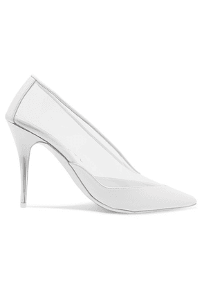 Stella McCartney - Faux Leather-trimmed Pu Pumps - White