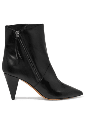 Isabel Marant - Latts Leather Ankle Boots - Black