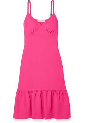 MICHAEL Michael Kors - Ruffled Piqué Dress - Fuchsia