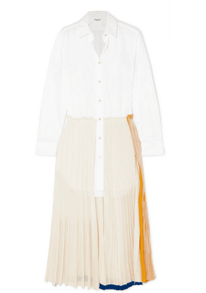 Sonia Rykiel - Layered Cotton-poplin And Jersey Maxi Dress - White