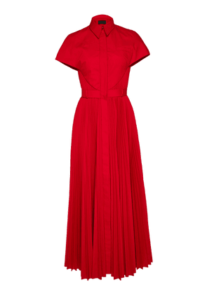 Brandon Maxwell SpecialOrder-Pleated Button-Up Shirt Dress-AF