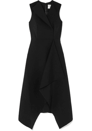 Dion Lee - Folded Sail Draped Stretch-cady Midi Dress - Black