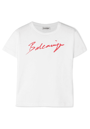 Balenciaga - Printed Cotton-jersey T-shirt - White