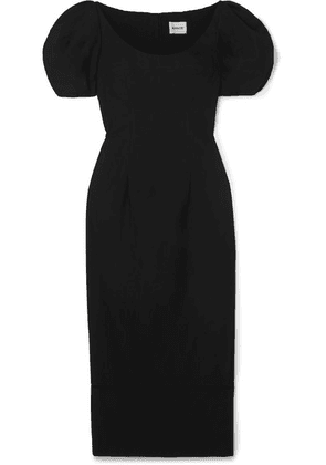 Khaite - Allison Cotton-poplin Maxi Dress - Black