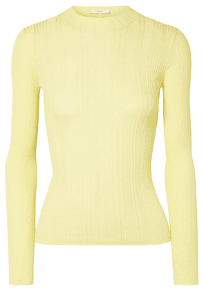 Vince - Ribbed Cotton Sweater - Bright yellow