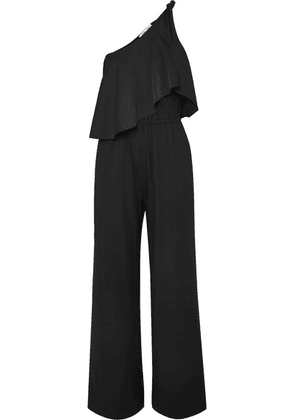 Diane von Furstenberg - Rosalyee One-shoulder Stretch-jersey Jumpsuit - Black