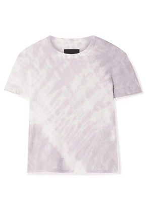 RtA - Rain Cropped Tie-dyed Cotton And Cashmere-blend Jersey T-shirt - Lavender