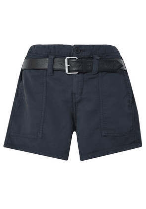 RtA - Saint Belted Cotton Shorts - Navy
