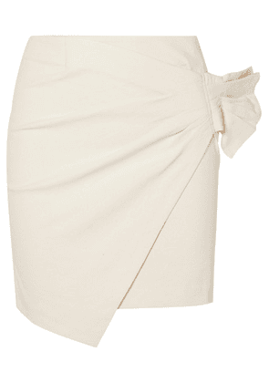 Isabel Marant - Lyuba Ruffled Wrap-effect Cotton-blend Mini Skirt - Ecru