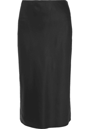 Joseph - Frances Silk-satin Midi Skirt - Black