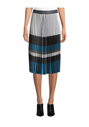 Tamsen Colorblock Pleated Skirt