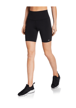 High-Waist Active Biker Shorts