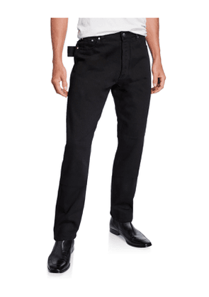 Men's Washed Denim Side-Loop Pants