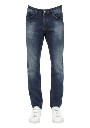 Straight Washed Cotton Denim Jeans