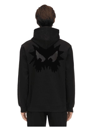 Monster Print Cotton Sweatshirt Hoodie