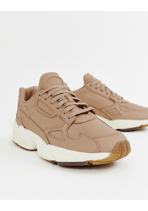 adidas Orignals Premium Leather Falcon trainers in beige