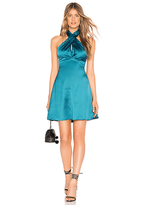 About Us Amerie Halter Dress in Teal. Size XS.