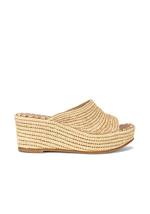 Carrie Forbes Karim Wedge in Beige. Size 37,40.