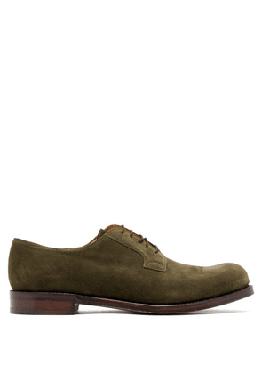 Cheaney - Horseforth Suede Derby Shoes - Mens - Khaki