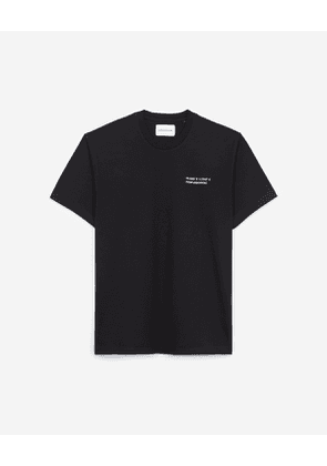 The Kooples - black t-shirt in cotton with paris gps - bla