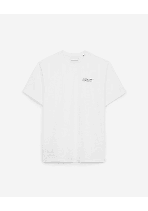 The Kooples - white t-shirt in cotton with paris gps - white