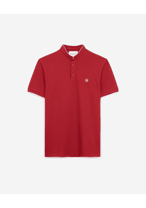 The Kooples - red slim-fit polo shirt with stand-up collar - reed