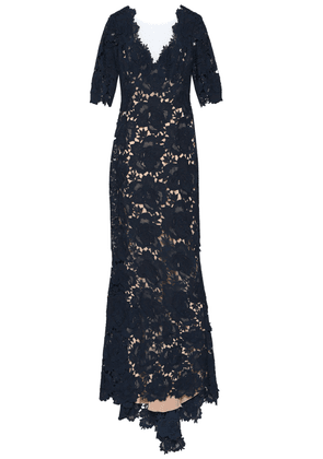 Catherine Deane Corded Lace Gown Woman Navy Size 6