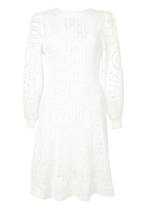 A.L.C. knitted long sleeve dress - White